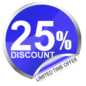For a limited time receive 25% off the cost of your Custom Website